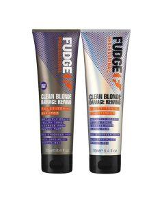 Fudge Clean Blonde Damage Rewind Violet-Toning Duo