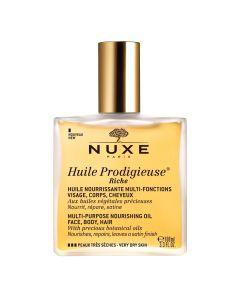 Nuxe Huile Prodigieuse Riche Multi-Purpose Nourishing Oil Face-Body-Hair 100 ml
