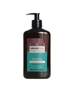 Arganicare Shampoo For Dry & Damaged Hair - Argan & Shea Butter 400 Ml