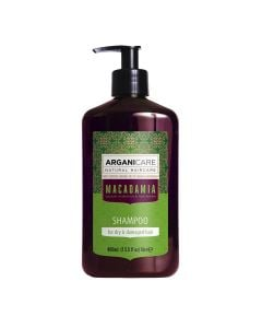 Arganicare Macadamia Shampoo For Dry & Damaged Hair - Argan & Macadamia 400 Ml
