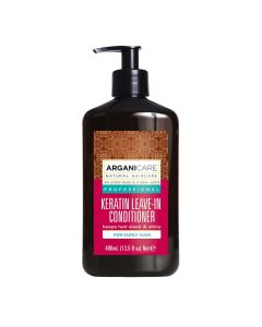 Arganicare Keratin Leave-In Conditioner For Curly Hair - Argan & Keratin 400 Ml