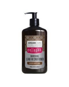 Arganicare Nourishing Leave-In Conditioner For Dry & Brittle Hair - Argan & Collagen 400 Ml