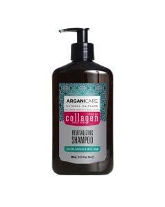 Arganicare Revitalizing Shampoo For Thin, Damaged & Brittle Hair - Argan & Collagen 400 Ml