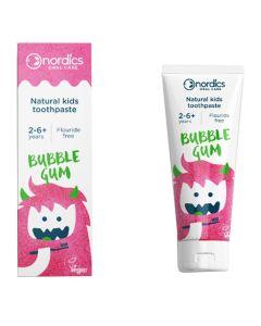 Nordics Natural Kids Toothpaste Bubble Gum 50Ml