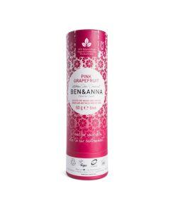 Ben & Anna Push Up Carton Pink Grapefruit Natürliches Soda Deodorant