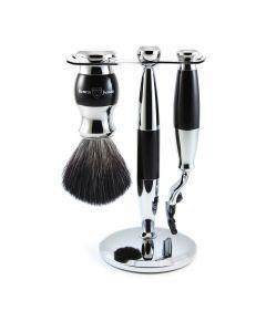 Edwin Jagger 3 Pc Shaving Set 36 Series Mach 3 - Black