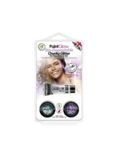 Paintglow Bio-Degradable Chunky Loose Glitter, Hang Pack 2
