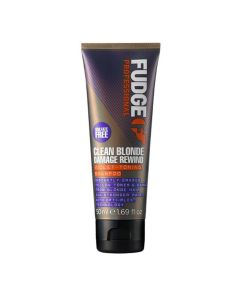 Fudge Clean Blonde Damage Rewind Violet-Toning Shampoo 50 Ml