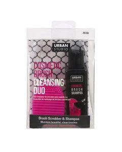 Cala Cosmetic Brush Cleansing Duo Brush Scrub & Shampoo