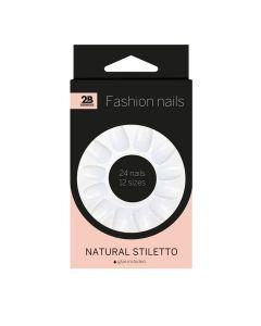 2B Nails Natural Stiletto
