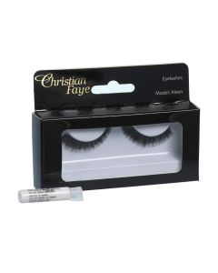 Christian Faye Eyelashes Aleen With Glue