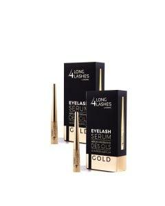 Long4Lashes Gold Eyelash Serum 4 Ml Duo-Pack
