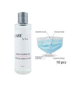 Care By Bema Mundschutz 10 Pcs + Hygiene Handgel 200 Ml