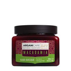 Arganicare Macadamia Hair Masque For Dry & Damaged Hair - Argan & Macadamia 500 Ml