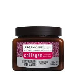 Arganicare Reconstructuring Hair Masque For Thin, Damaged & Brittle Hair - Argan & Collagen 500 Ml