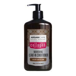 Arganicare Nourishing Leave-In Conditioner For Dry & Brittle Hair - Argan & Collagen 400 Ml